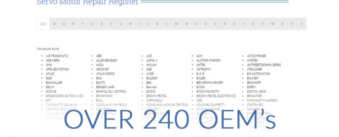 CPM ServoLab repair register