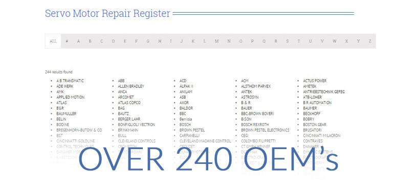 CPM ServoLab repair register