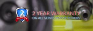 2 year warranty on all servo motor repairs